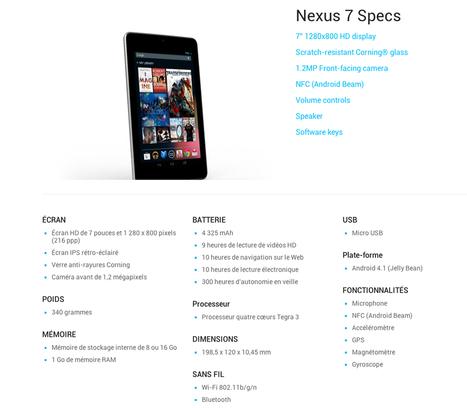 Nexus 7 disponible aujourd'hui en France | Fizz-it | STRATOGINA | Scoop.it