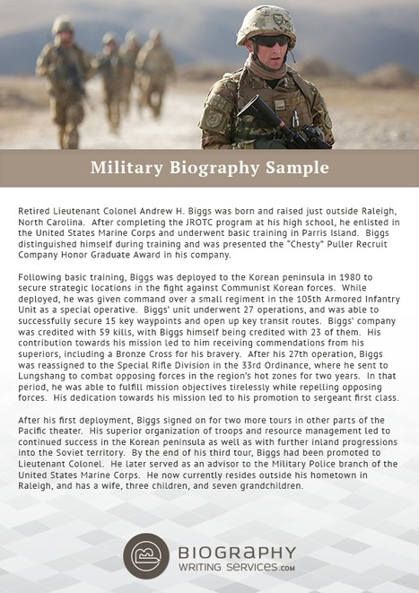 Military Biography Sample