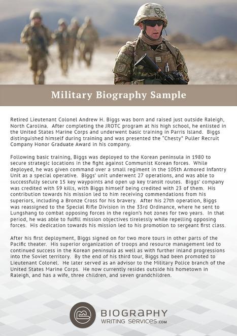 Military Biography Sample | Best Biography Samp...