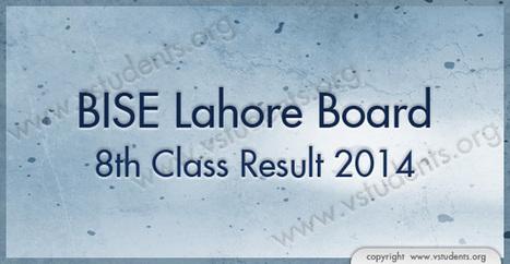 8th Class Result 2014 Lahore Board Pdf