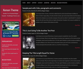 Xenon Blogger Template | New Blogger Themes | Professional ... | Blogger themes | Scoop.it