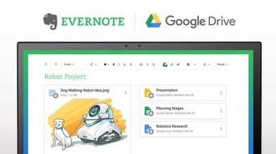 Evernote intègre Google Drive - Paperblog | Evernote, gestion de l'information numérique | Scoop.it