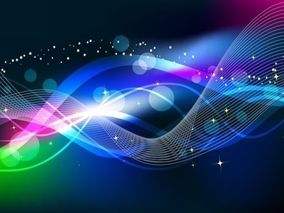 Abstract wave color light background vector f
