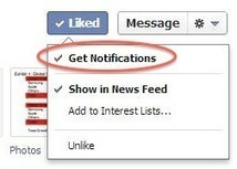 Facebook rolling out option for fans to receive notifications about page posts | Social Media News and Info | Scoop.it