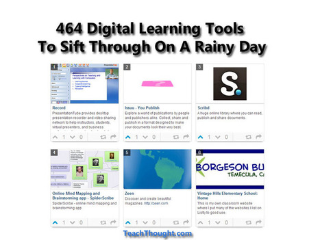 464 Digital Learning Tools To Sift Through On A Rainy Day | Prendi eLearning - Education, Technology, iPads... | Scoop.it