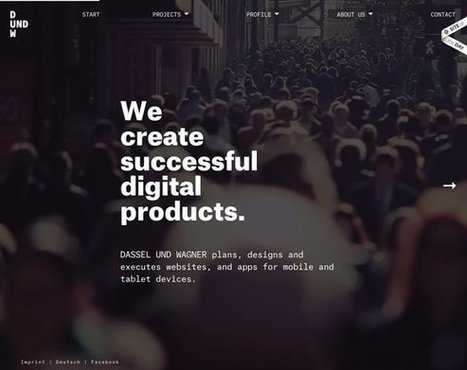 17 Examples of Beautiful Typography in Web Design | Inspiration | My Checked | Scoop.it