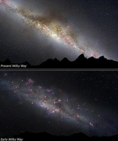 El Hubble revela las primeras imágenes de la formación de la Vía Láctea | Reflejos | Scoop.it