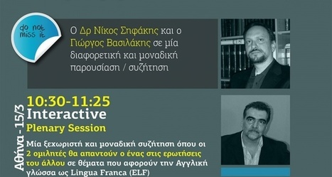 6th Foreign Languages Forum - Plenary Session | Nicos Sifakis publications | Scoop.it