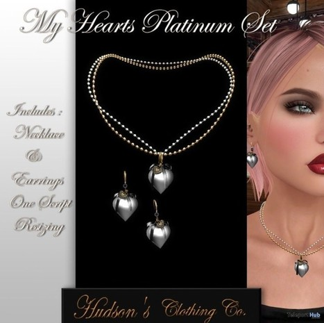 ba4972150828a My Heart Platinum Jewelry Set Group Gift by HUDSON s Clothing Co