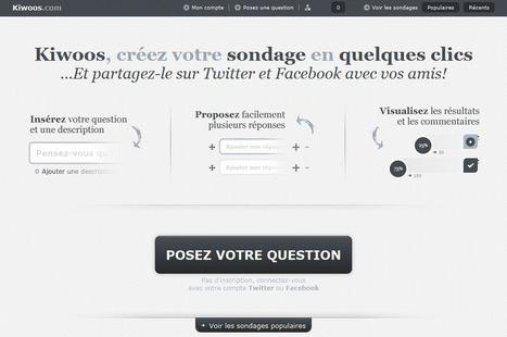 [astuce] Kiwoos : créez des sondages à partager sur Facebook et Twitter | Time to Learn | Scoop.it
