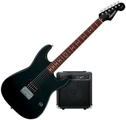 2b0c1e20b8f Starcaster by Fender 1 Humbucker Strat Electric Guitar Starter Pack (Black)