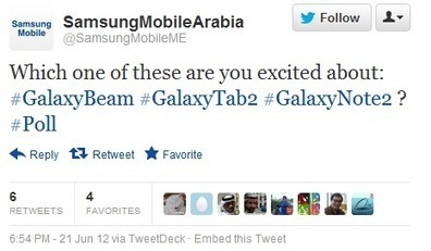 Samsung Note 2 is Confirmed By Samsung Mobile Arabia | Telecom2012 | Scoop.it