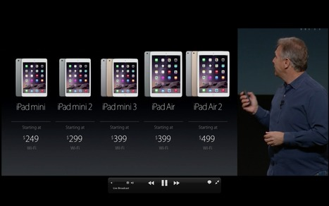New iPad Line up and price points from the Live Stream | iPads  For Instruction | Scoop.it