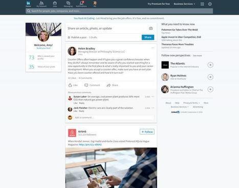 Linkedin s'offre un vrai nouveau look pour la première fois ! | Référencement internet | Scoop.it