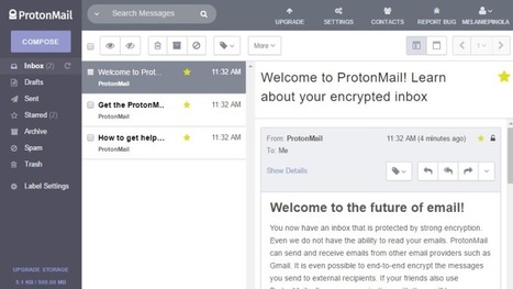 ProtonMail Is the Easiest Way to Send and Receive Encrypted Emails | Bazaar | Scoop.it