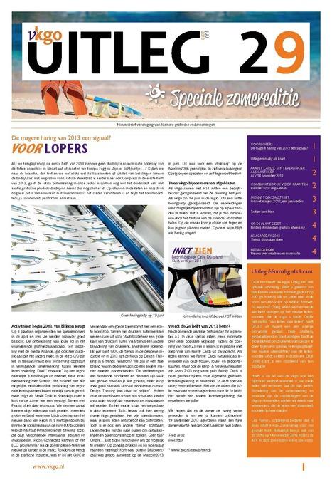 Drukwerk: De Uitleg eenmalig als krant | BlokBoek e-zine | Scoop.it