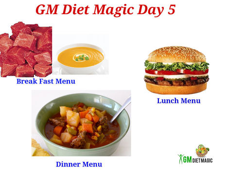 Gm diet day 5 vegetarian meal plan
