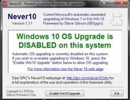 Bloquer la mise à jour vers Windows 10 | Mes ressources personnelles | Scoop.it