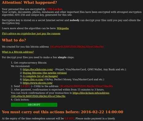 Website Ransomware - CTB-Locker Goes Blockchain - Sucuri Blog   Blogging, Social Media & Tools   Scoop.it