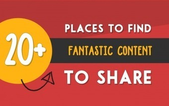 20+ Places To Find Interesting Content To Share On Social Media | The Social Media Learning Lab | Scoop.it