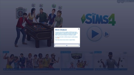 The Sims 4: Mods and Custom Content Auto-Disabl