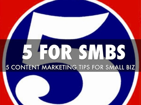 """""""5 Content Marketing Tips Fo SMBs"""" - A Haiku Deck by Martin Smith 