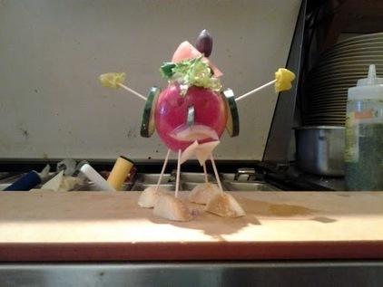 Vernard Nuncio Fields - Google+ - Art made from food behind the Panera Bread line. Enjoy!…   Food Art   Scoop.it