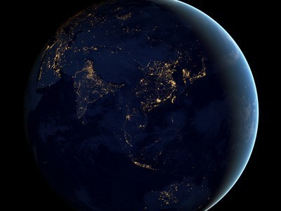 "NASA's ""Black Marble"" Photos of Earth At Night 