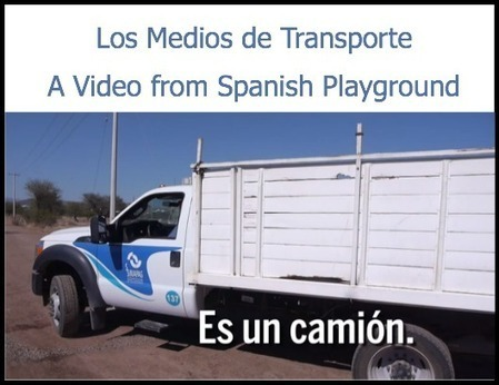 Spanish Words: Transportation Video - Spanish Playground | Preschool Spanish | Scoop.it