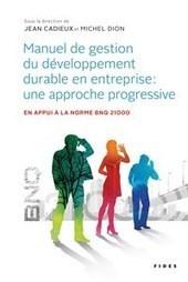 Manuel de gestion du développement durable en entreprise : une approche progressive - Médiaterre Responsabilité sociétale   Responsabilité sociale des entreprises (RSE)   Scoop.it