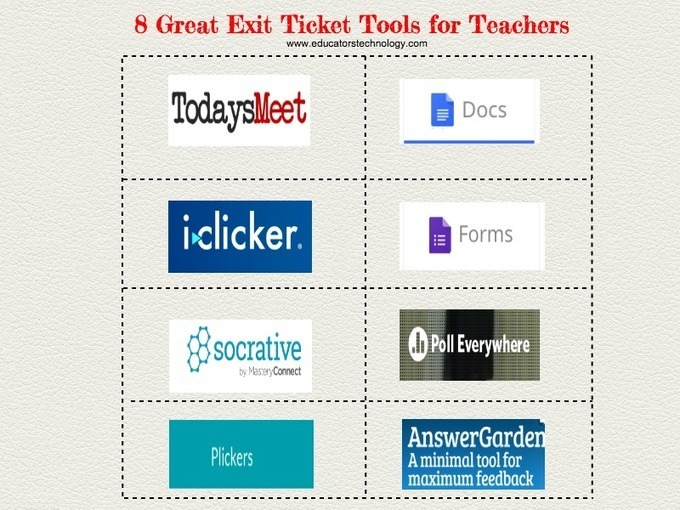8 Great Exit Ticket Tools For Teachers Via Educ