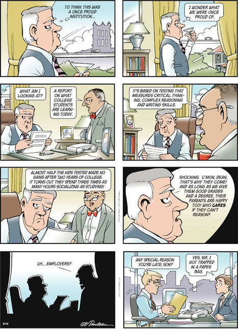 And now some comic relief: Doonesbury on what college students are learning today | Disrupting Higher Ed | Scoop.it