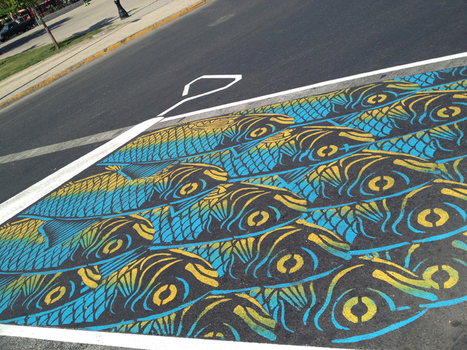 Roadsworth Creates a Visual Playground in the Streets of Montreal | Best Urban Art | Scoop.it