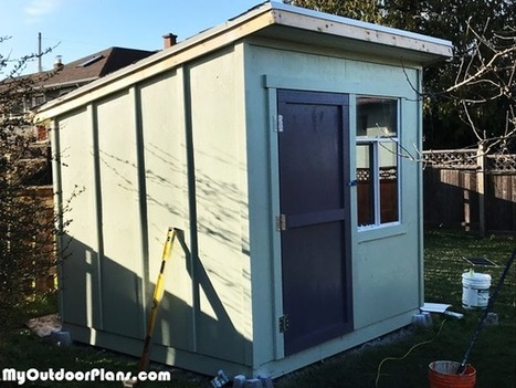 8x8 Lean To Shed Diy Project Myoutdoorplans