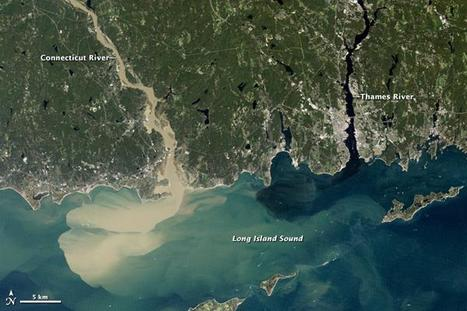 Sediment Spews from New England River After Irene | Developing Spatial Literacy | Scoop.it