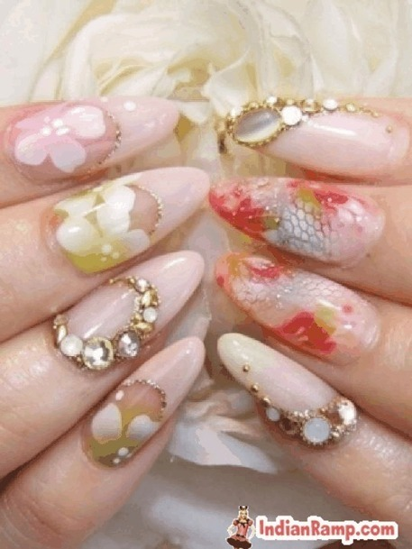 Beautiful Nail Art for Brides, Latest Nail Polish Designs and Colors | CHICS & FASHION | Scoop.it