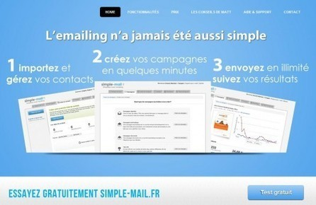 Emailing et Newsletter, une application en ligne et en français, Simple Mail | Blogs | Scoop.it