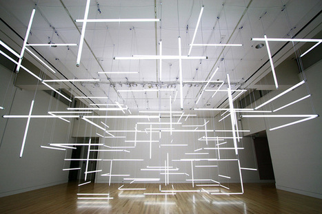 A Geometric Labyrinth of 200 Fluorescent Lights at Frye Art Museum | Colossal | CRAW | Scoop.it