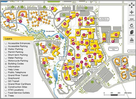 U Waterloo Campus Map.Campus Map University Of Waterloo Housing E