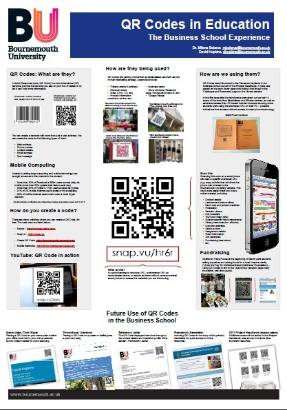 Poster: QR Codes in Education – the Business School Experience #QRCode @milenabobeva – eLearning Blog Dont Waste Your Time | The Best of QRcode | Scoop.it