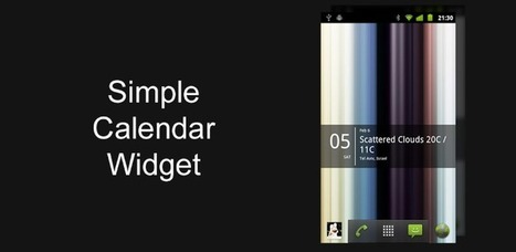 Simple Calendar widget - Applications Android sur GooglePlay | Android Apps | Scoop.it