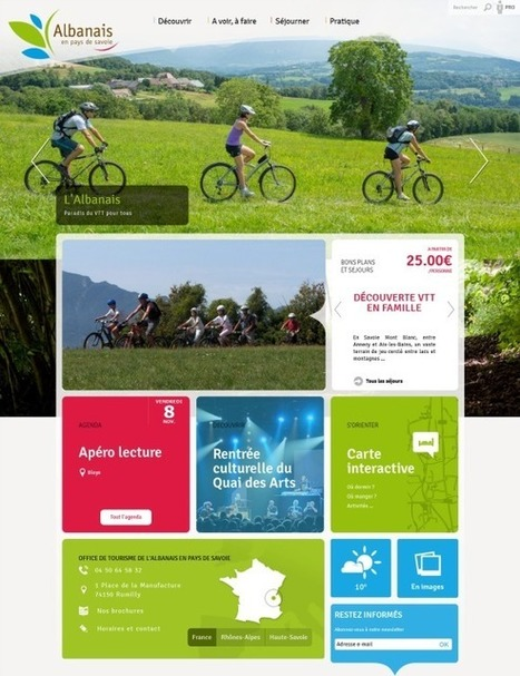 Nouveaux sites web de destinations touristiques...   Mon CDT sur le Ouèbe   Scoop.it