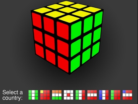 Interactive rubiks cube banner | I wish I'd thought of that | Scoop.it