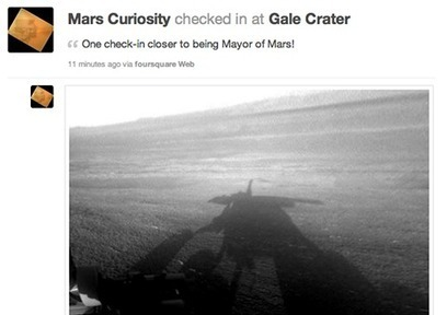 Foursquare in space! Follow @MarsCuriosity as it explores the red planet | SMB Social Media Monitor | Scoop.it