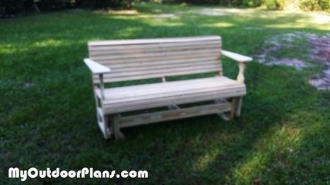 Diy Wooden Glider Bench Myoutdoorplans Free