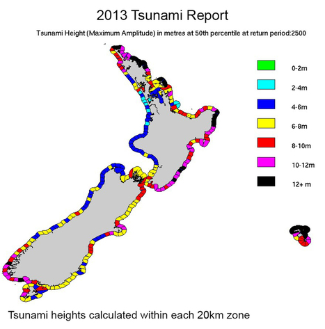 Updated NZ tsunami threat map 2013   Geographyandworldcultures   Scoop.it