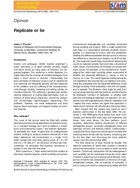 Replicate or lie | Plant-Microbe Symbiosis | Scoop.it
