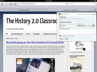 The History 2.0 Classroom: 1:1 iPad Solutions: Evernote | iPad learning | Scoop.it