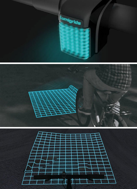 "Lumigrids LED bike projector | ""#Social World, Internet, Gadgets, Computers, CellPhones, Future, Space"" 