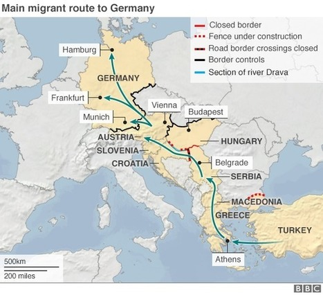Migrant crisis: Neighbours squabble after Croatia U-turn | geographical themes and issues | Scoop.it